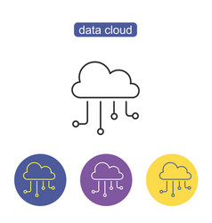 hosting cloud icon vector image