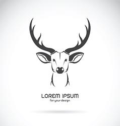Image of a deer head design vector image