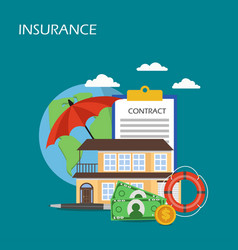 Insurance concept flat style design vector