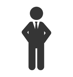 Man executive suit tie business icon vector