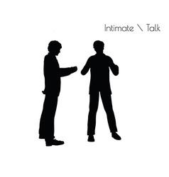 Man in Conversation Intimate Talk pose vector