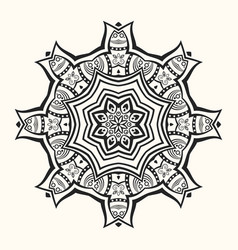 mandala decorative round ornament vector image
