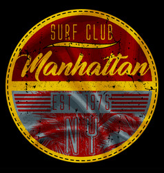 Manhattan surf club vector