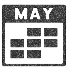 May Calendar Grid Grainy Texture Icon vector