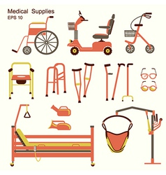 medical hospital equipment for disabled people vector image