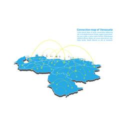 Modern of venezuela map connections network vector
