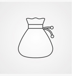 money bag icon sign symbol vector image