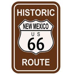 new mexico historic route 66 vector image