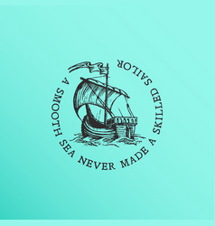 old ship label vector image
