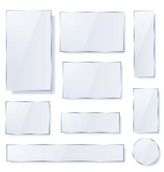 Opaque glass plates vector