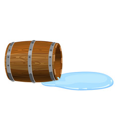 open barrel lying on the ground empty with vector image