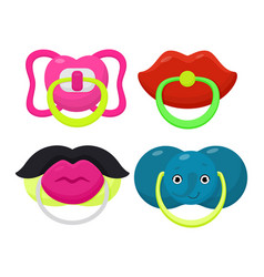 pacifier basoother child nipple and kids vector image