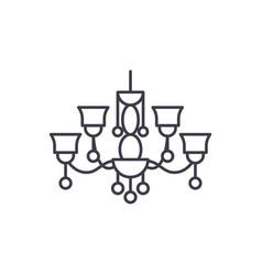 pendant lamp line icon concept pendant lamp vector image