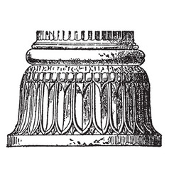 Persian architecture are column base at vector