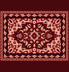 Persian carpet indian rug and arabesque abstract vector