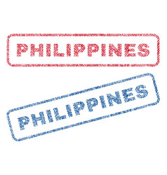 Philippines textile stamps vector