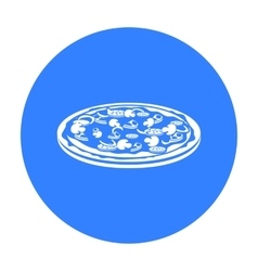 Pizza icon in black style for web vector