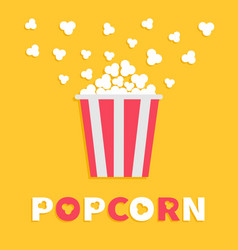 popcorn popping red yellow strip box package vector image