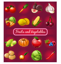 poster with a picture ripe and healthy vector image