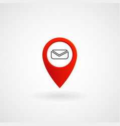 Red location icon for message eps file vector