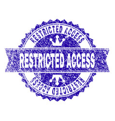 Scratched textured restricted access stamp seal vector