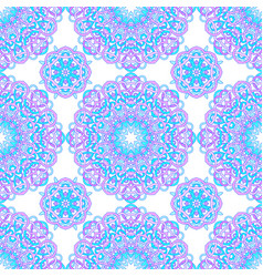 seamless pattern of round abstract mandalas vector image
