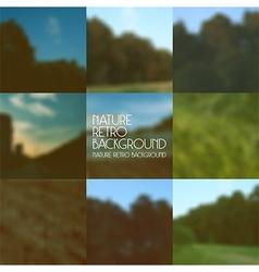 Set blurred backgrounds landscape vector
