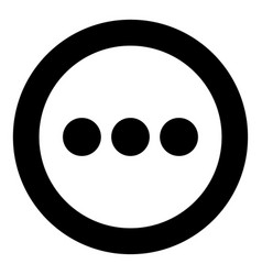 Sign continue icon black color in circle vector