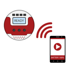 Smartphone app for control of robot vacuum cleaner vector
