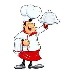 Smiling cook cartoon vector