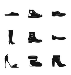 special footwear icons set simple style vector image