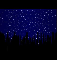 Stary night cityscape vector
