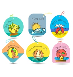 summer tags vector image