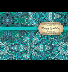 turquoise blue greeting template outer vector image
