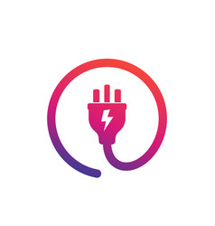 Uk electric plug icon logo vector