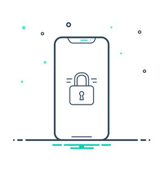 Unlocked phone vector