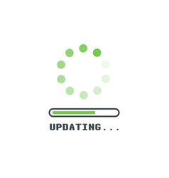 Upadting line icon vector