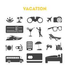 Vacation Icons Set vector