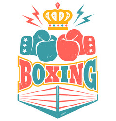 vintage logo for a boxing vector image