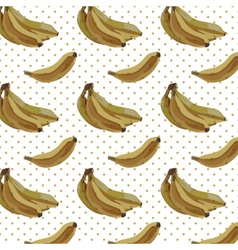 Vintage Watercolor bananas pattern vector image