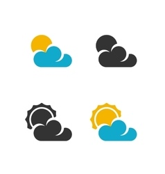 Weather Icon logo on white background vector image