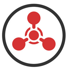 Wmd nerve agent chemical warfare flat icon vector
