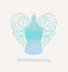 World day of kindness card vector