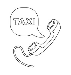 Yellow handset with cord to call a taxi taxi vector