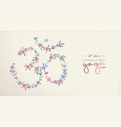 Yoga day web banner om india spiritual symbol vector