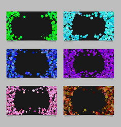 abstract business card background set with vector image vector image