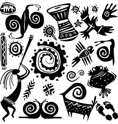 elements for designing primitive art vector image