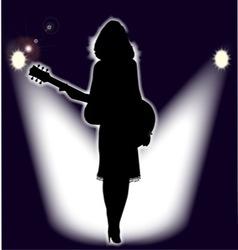 Folk Singer vector image vector image