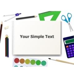 school supplies tools vector image vector image