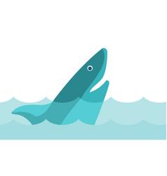 shark in the sea cartoon vector image